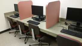 Shared lab space of six isolated computers.
